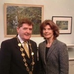 Mayor Michael Hourigan with Gabrielle Wallace O'Donnell