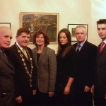 Gabrielle with family members and the Mayor of Limerick
